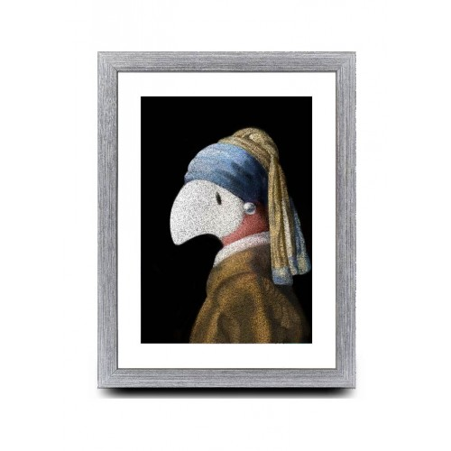 A4 - Paint me with a pearl Earring.