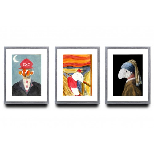 A3 Bundle of 3 - Famous Painting Series
